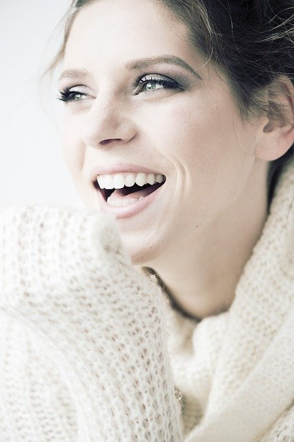 lady with a beautiful smile
